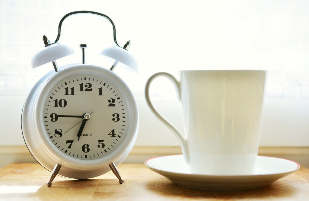 alarm clock, time of, good morning