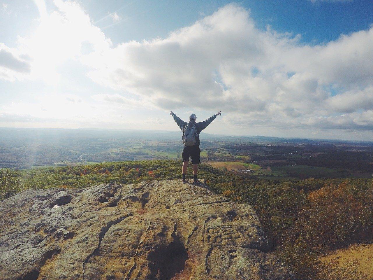 hiking, mountain, climbing mountain